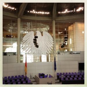 La salle plénière du Bundestag, coeur de la démocratie allemande
